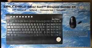 Seal Shield Silver surf S103M7W Wireless combo mouse keyboard for Sale in Lanham, MD