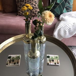 Iridescent gold Vase Set for Sale in Seattle, WA