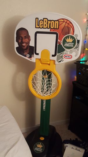 LeBron James kids basketball hoop with ball for Sale in Westminster, CO