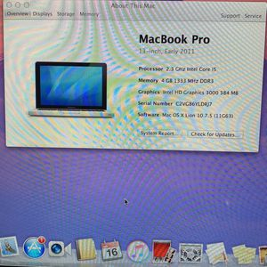 Macbook Pro Early 2011 13inch Charger Included for Sale in Fremont, CA