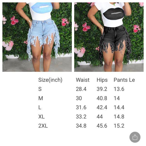 Size medium fringe shorts - two colors