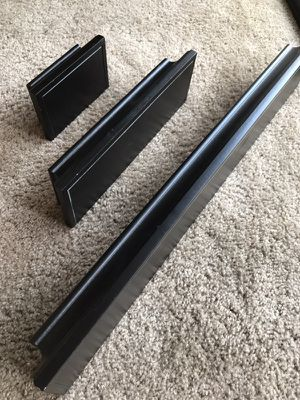 3 BLACK WOODEN WALL SHELVES for Sale in Fresno, CA