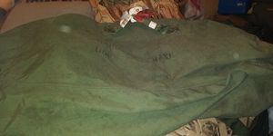 EX EX LARG ARMY TOTE LUGGAGE BAG 13DOL FIRM LOTS ITEMS MY POST GO LOOK for Sale in Jupiter, FL