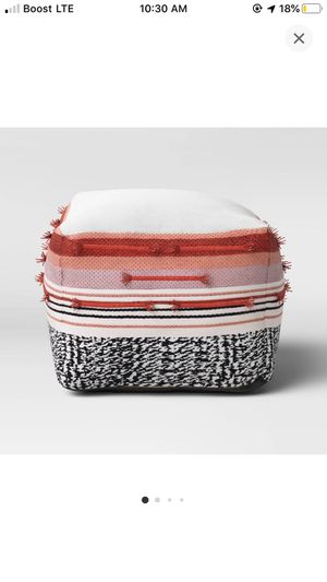 Outdoor Pouf Red/black/white - Opalhouse for Sale in Los Angeles, CA