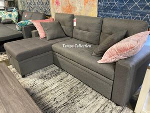 NEW IN THE BOX. SECTINAL SOFA PULL OUT BED, SKU# TC8008-GRAY for Sale in Fountain Valley, CA