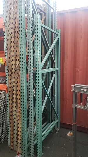 "8' tall x 42"" deep, x 4'/8' long pallet rack. Great heavy duty shelving for garage or container for Sale in Concord, CA"