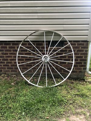 Antique Metal Wagon Wheel for Sale in Sandston, VA