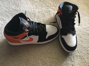 Nike Air Jordan 1 Mid Youth Sz 7 Orange/Black Unisex. No tags, No box Local P/up also for Sale in Mesquite, TX
