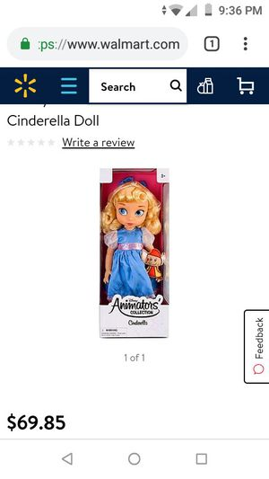 Disney Animated Collection Cinderella Doll for Sale in Fremont, CA