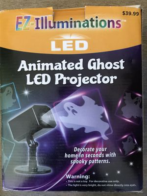 Animated ghost led projector used once! Only $25 halloween scary scene for Sale in Sierra Madre, CA