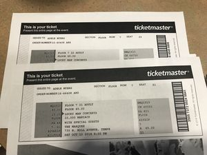 Two tickets to 10,000 Maniacs on 13 October 18 at the Marquee in Tempe. for Sale in Mesa, AZ
