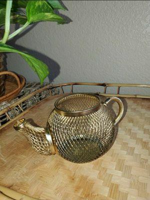 Gold Metal Tea Pot Trinket/rings Holder for Sale in Goodyear, AZ