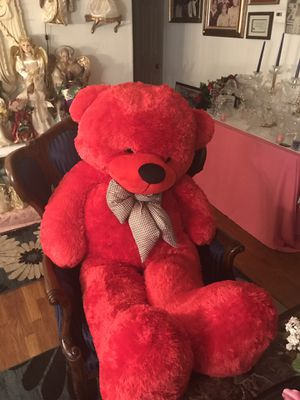 Large red teddy bear for Sale in Richmond, VA