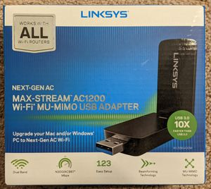 Linksys AC1200 USB Wi-Fi adapter with MU-MIMO for Sale in Bellevue, WA