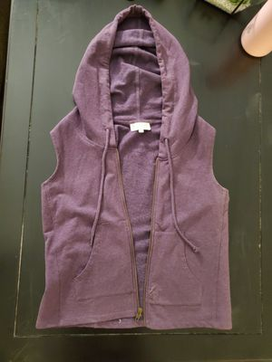 Purple Synergy Organic Clothing Sleeveless Hoodie Zip Up for Sale in Nashville, TN