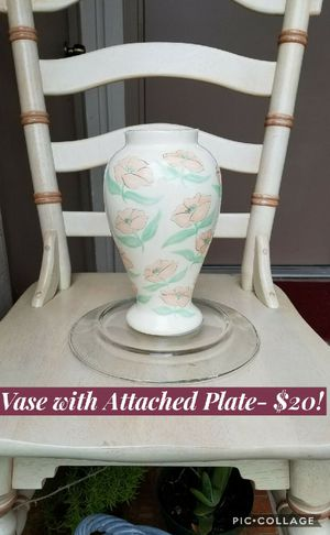 Vase with plate attached! Use as planter! for Sale in Sarasota, FL