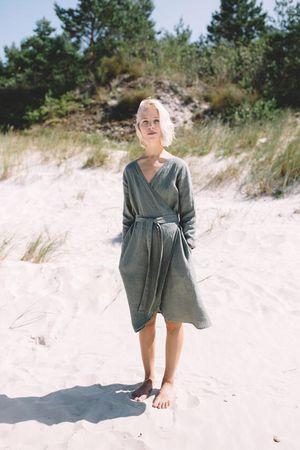 LinenFox wrap dress for Sale in Wheaton, IL