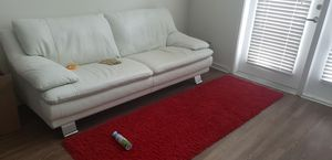 REAL LEATHER WHITE COUCH for Sale in Orlando, FL