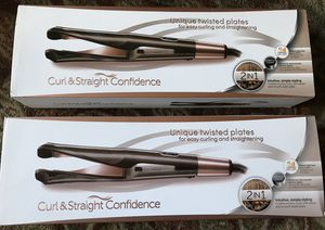 Hair Straightener Curling Iron 2 In 1 Ceramic Tourmaline Twisted Flat Iron for Sale in Montebello, CA