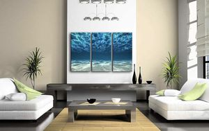 Canvas Wall Art Underwater Ocean 3 Piece Canvas Home Office Decoration for Sale in Laurel, MD