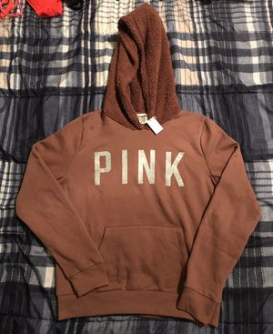 (NWT) VS Pink Sherpa hood hoodie SZ Small for Sale in Picayune, MS