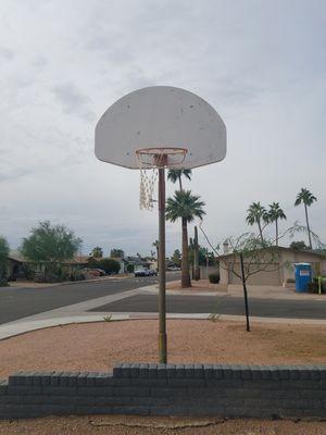 Basketball Hoop with Galvenized Pole for Sale in Tempe, AZ