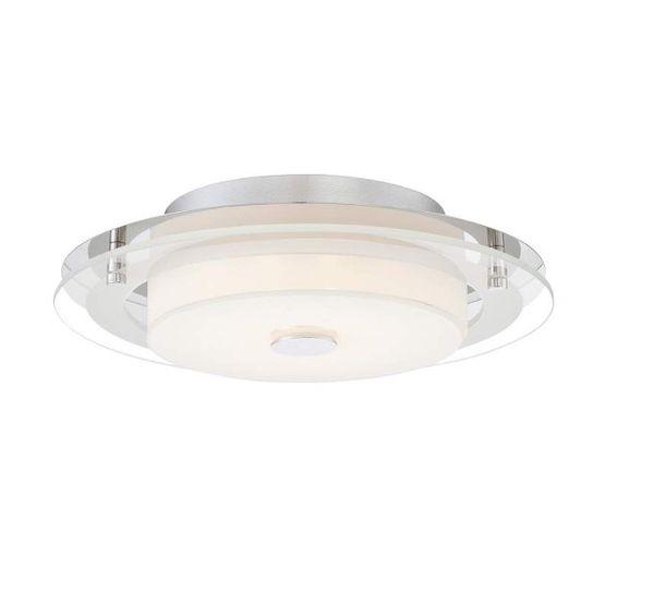 """Possini Euro Clarival 12 1/2"""" Wide Crome LED Ceiling Light"""