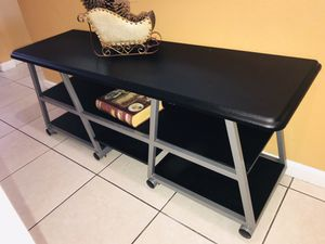 """TV STAND / Large modern TV stand for you flat screen . 60"""" Length- 23"""" High- 17""""deep. for Sale in Bloomington, CA"""