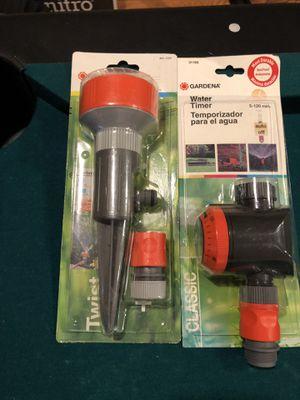 Gardena Spike sprinkler w/4 patterns & Gardena mechanical water timer w/flow control for Sale in New Market, MD