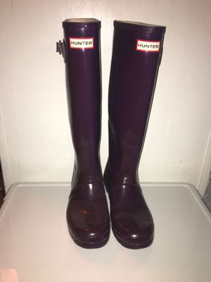 Purple Hunter Boots W8 for Sale in Aloha, OR