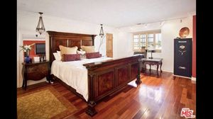 Cal king bed frame headboard footboard and 2 nightstands for Sale in Los Angeles, CA