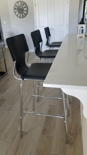 """3 Barstools Only in like new condition. 30""""H From Floor To Seat Message Only If A Serious Buyer Please. Asking $265 for Sale in Bakersfield, CA"""