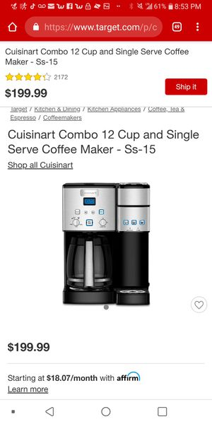Cuisine art 2 in 1 12 cup coffee maker for Sale in Pittsburgh, PA