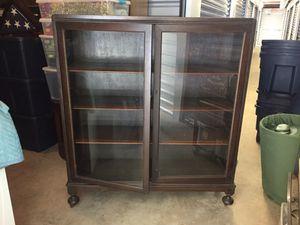 Dark brown display cabinet for Sale in Midlothian, VA