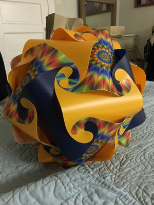 This Magical Psychedelic 3~D Puzzle Hanging Chandelier lamp!! 😎❤️💛💚💙💜✨✨ for Sale in Somerville, MA