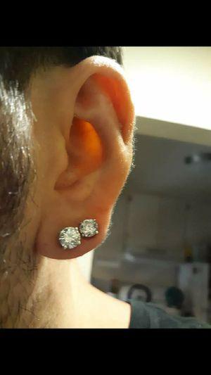 2 pair diamond stud earrings (2 sets) for Sale in Millbrae, CA