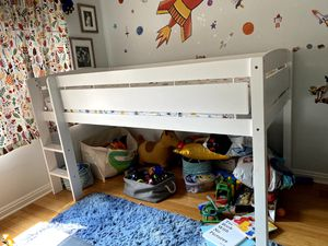 Like New Wood - Twin Size Loft Bed Frame for Sale in Los Angeles, CA
