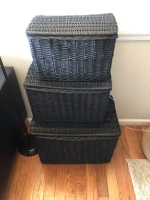 3 Wicker Storage Containers for Sale in Arlington, VA