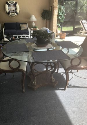 Nice heavy table only two chairs 100 for Sale in Port Charlotte, FL