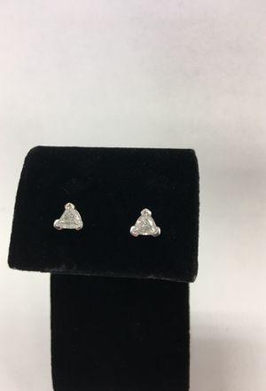 Diamond Trillion cut earrings for Sale in Denver, CO
