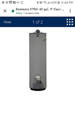 Kenmore 40 Gallon Tall Water Heater - Natural Gas for Sale in Kaneohe, HI