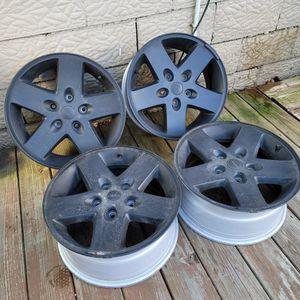 """17"""" Black Jeep Wheels From 2017 Wrangler for Sale in Stow, OH"""