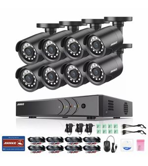 ANNKE 1080P Lite 5in1 8CH DVR 2MP TVI Outdoor CCTV Security IR Camera System for Sale in Whittier, CA