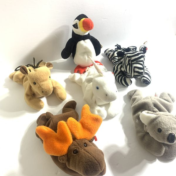 Ty Beanie Babies Lot of 6 (Read Desc)