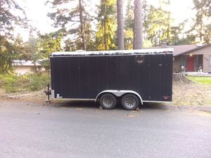 16 foot double axle cargo trailer for Sale in Lacey, WA
