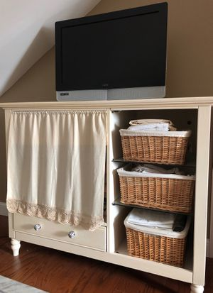 Painted Oak repurposed entertainment center for Sale in Suffield, CT