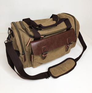 "New $20 Mens Vintage Travel Duffel Bag Hand Gym Sports Shoulder Strap Backpack 18x9x11"" for Sale in South El Monte, CA"