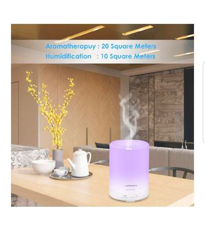 Aroma Essential Oil Diffuser Night Light Ultrasonic Air Humidifier with AUTO Shut off and 6-7 HOURS Continuous Diffusing for Sale in Ontario, CA