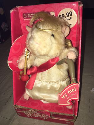 New Tested Works 2004 GEMMY DANCING HAMSTER CUPID SINGS THAT'S AMORE Toy Figure for Sale in Rochester Hills, MI