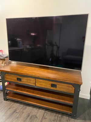 Tv stand with drawers - can mount up to 70 inch tv for Sale in Bellevue, WA